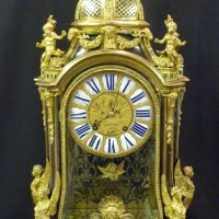 A rare French Louis XIV clock. Hammer: £5000
