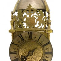 An early brass lantern clock  Hammer:£16,000