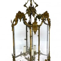 A Victorian patinated and gilded large lantern. Hammer:  £1300