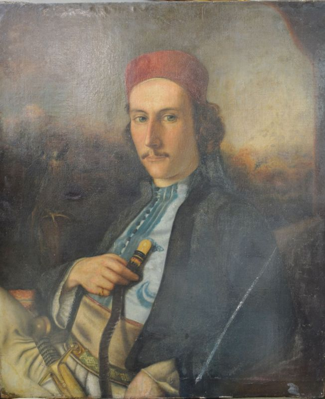 In the manner of William Pether.HALF LENGTH PORTRAIT OF A FLEMISH MAN. Oil on canvas, 76 x 63 cms  Hammer: £5,500