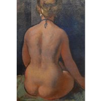 Nude Study, Oil On Canvas, Signed, 75cm By 50cm Hammer: £980