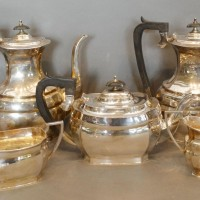 A Silver Five Piece Tea and Coffee Service  Hammer: £680